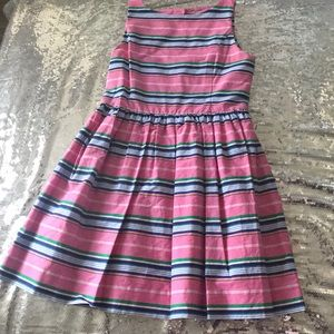Pink polo striped dress